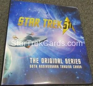 Star Trek The Original Series 50th Anniversary Trading Card Binder