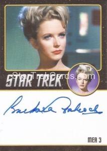 Star Trek The Original Series 50th Anniversary Trading Card Black Border Autograph Barbara Babcock