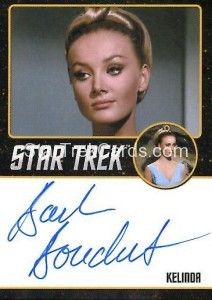 Star Trek The Original Series 50th Anniversary Trading Card Black Border Autograph Barbara Bouchet