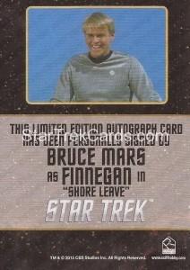 Star Trek The Original Series 50th Anniversary Trading Card Black Border Autograph Bruce Mars Back