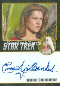 Star Trek The Original Series 50th Anniversary Trading Card Black Border Autograph Emily Banks