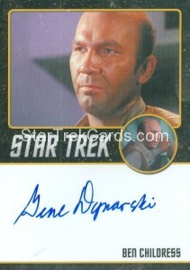 Star Trek The Original Series 50th Anniversary Trading Card Black Border Autograph Gene Dynarski