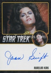 Star Trek The Original Series 50th Anniversary Trading Card Black Border Autograph Joan Swift