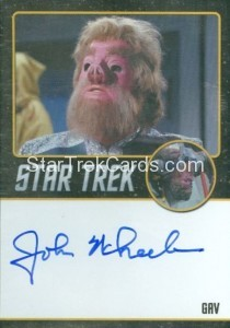Star Trek The Original Series 50th Anniversary Trading Card Black Border Autograph John Wheeler