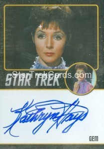 Star Trek The Original Series 50th Anniversary Trading Card Black Border Autograph Kathryn Hays
