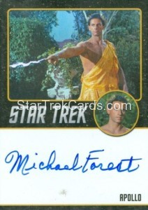 Star Trek The Original Series 50th Anniversary Trading Card Black Border Autograph MIchael Forest