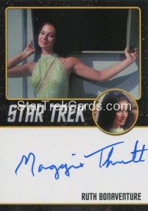 Star Trek The Original Series 50th Anniversary Trading Card Black Border Autograph Maggie Thrett