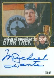 Star Trek The Original Series 50th Anniversary Trading Card Black Border Autograph Michael Dante