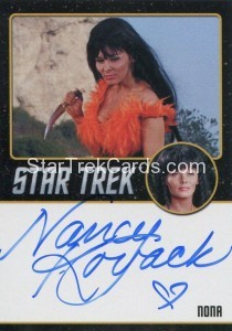 Star Trek The Original Series 50th Anniversary Trading Card Black Border Autograph Nancy Kovack
