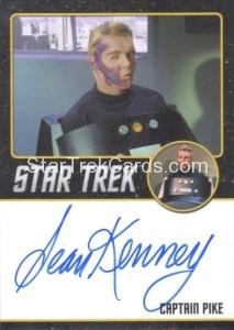 Star Trek The Original Series 50th Anniversary Trading Card Black Border Autograph Sean Kenney 1