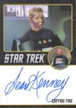 Star Trek The Original Series 50th Anniversary Trading Card Black Border Autograph Sean Kenney 1