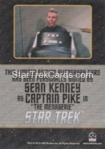 Star Trek The Original Series 50th Anniversary Trading Card Black Border Autograph Sean Kenney Back