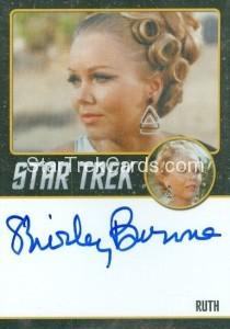 Star Trek The Original Series 50th Anniversary Trading Card Black Border Autograph Shirley Bonne
