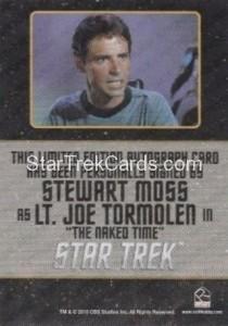 Star Trek The Original Series 50th Anniversary Trading Card Black Border Autograph Stewart Moss Back