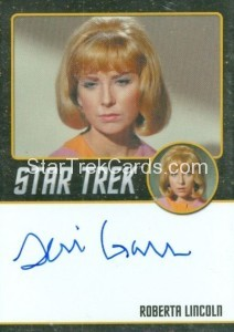 Star Trek The Original Series 50th Anniversary Trading Card Black Border Autograph Teri Garr