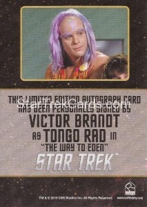 Star Trek The Original Series 50th Anniversary Trading Card Black Border Autograph Victor Brandt Back
