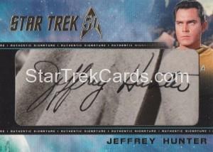Star Trek The Original Series 50th Anniversary Trading Card Cut Signature Jeffery Hunter Alternate