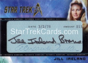 Star Trek The Original Series 50th Anniversary Trading Card Cut Signature Jill Ireland