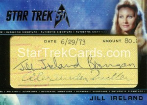 Star Trek The Original Series 50th Anniversary Trading Card Cut Signature Jill Ireland Alternate