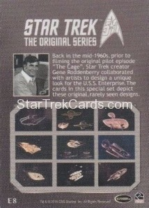 Star Trek The Original Series 50th Anniversary Trading Card E8 Back