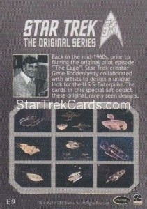 Star Trek The Original Series 50th Anniversary Trading Card E9 Back