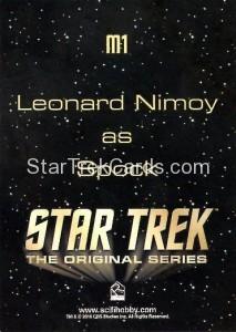 Star Trek The Original Series 50th Anniversary Trading Card M1 Back