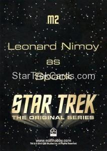 Star Trek The Original Series 50th Anniversary Trading Card M2 Back
