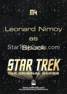 Star Trek The Original Series 50th Anniversary Trading Card M4 Back