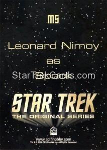 Star Trek The Original Series 50th Anniversary Trading Card M5 Back