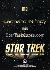 Star Trek The Original Series 50th Anniversary Trading Card M6 Back