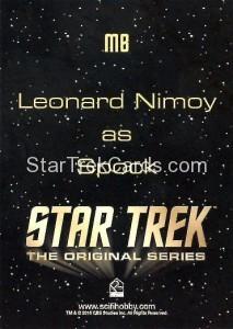 Star Trek The Original Series 50th Anniversary Trading Card M8 Back