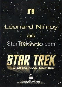 Star Trek The Original Series 50th Anniversary Trading Card M9 Back