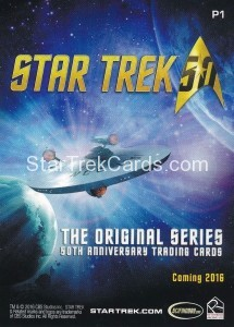 Star Trek The Original Series 50th Anniversary Trading Card P1 Back