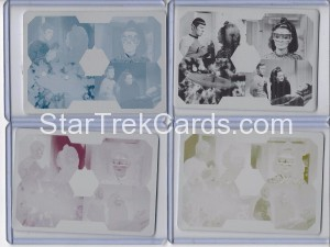 Star Trek The Original Series 50th Anniversary Trading Card Set of 4 Printing Plates