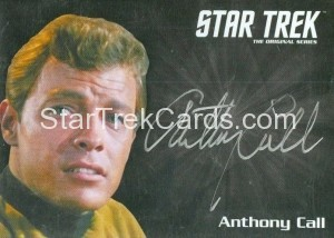 Star Trek The Original Series 50th Anniversary Trading Card Silver Autograph Anthony Call