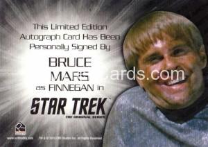 Star Trek The Original Series 50th Anniversary Trading Card Silver Autograph Bruce Mars Back
