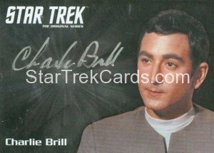 Star Trek The Original Series 50th Anniversary Trading Card Silver Autograph Charlie Brill
