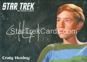 Star Trek The Original Series 50th Anniversary Trading Card Silver Autograph Craig Huxley