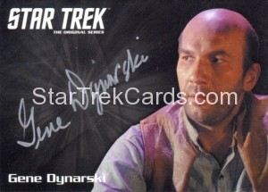 Star Trek The Original Series 50th Anniversary Trading Card Silver Autograph Gene Dynarski