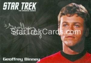 Star Trek The Original Series 50th Anniversary Trading Card Silver Autograph Geoffrey Binney