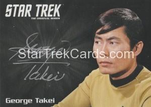 Star Trek The Original Series 50th Anniversary Trading Card Silver Autograph George Takei