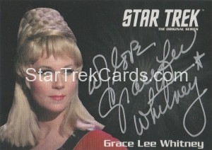 Star Trek The Original Series 50th Anniversary Trading Card Silver Autograph Grace Lee Whitney