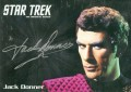 Star Trek The Original Series 50th Anniversary Trading Card Silver Autograph Jack Donner