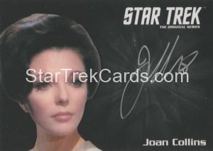 Star Trek The Original Series 50th Anniversary Trading Card Silver Autograph Joan Collins