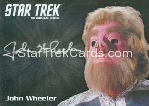 Star Trek The Original Series 50th Anniversary Trading Card Silver Autograph John Wheeler