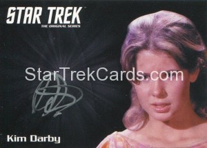 Star Trek The Original Series 50th Anniversary Trading Card Silver Autograph Kim Darby