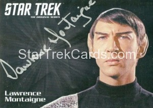 Star Trek The Original Series 50th Anniversary Trading Card Silver Autograph Lawrence Montaigne