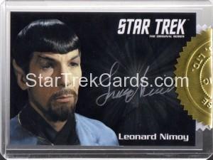 Star Trek The Original Series 50th Anniversary Trading Card Silver Autograph Leonard Nimoy
