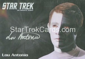 Star Trek The Original Series 50th Anniversary Trading Card Silver Autograph Lou Antonio