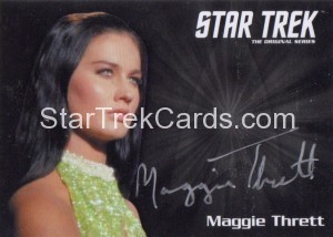 Star Trek The Original Series 50th Anniversary Trading Card Silver Autograph Maggie Thrett